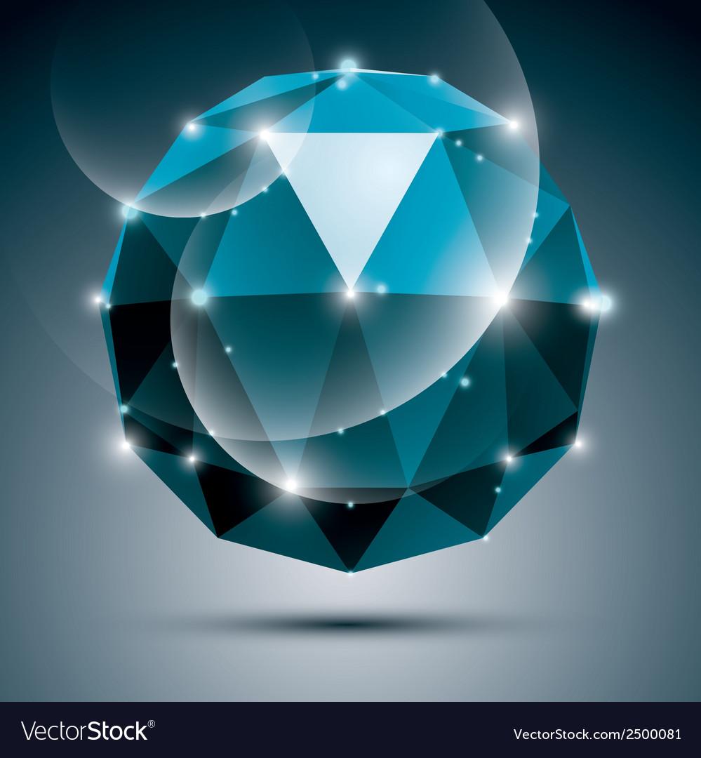 Stylish shiny sapphire effect eps10 gala vector