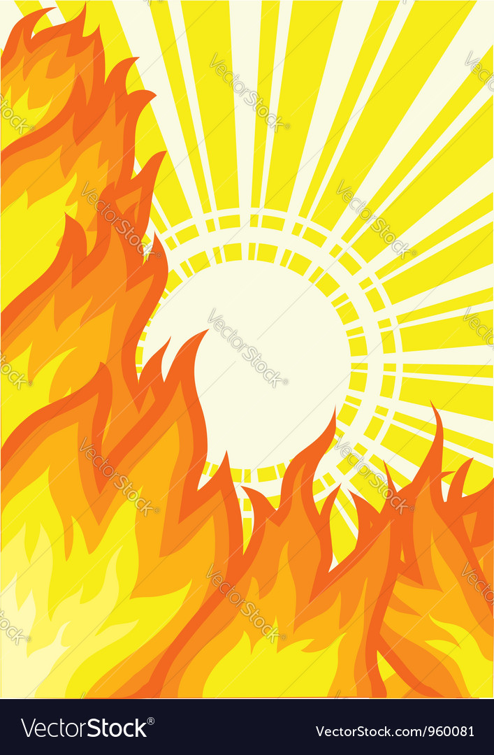 Sunlight fire background vector | Price: 1 Credit (USD $1)