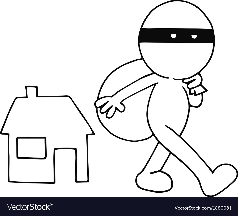Thief carrying bag vector   Price: 1 Credit (USD $1)