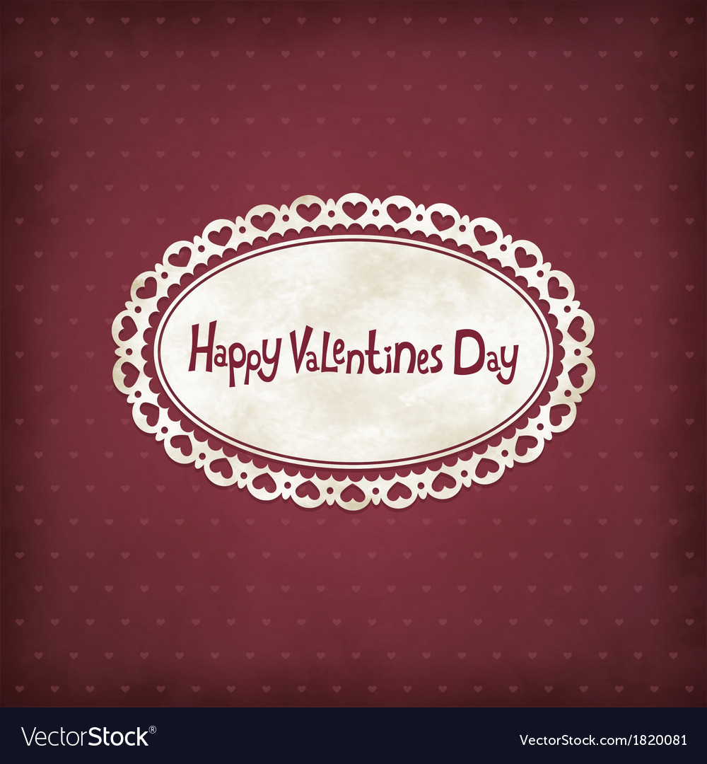 Vintage valentines day vector | Price: 1 Credit (USD $1)