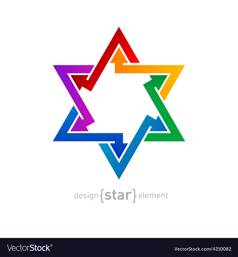 Abstract design element spectrum star on white vector | Price: 1 Credit (USD $1)