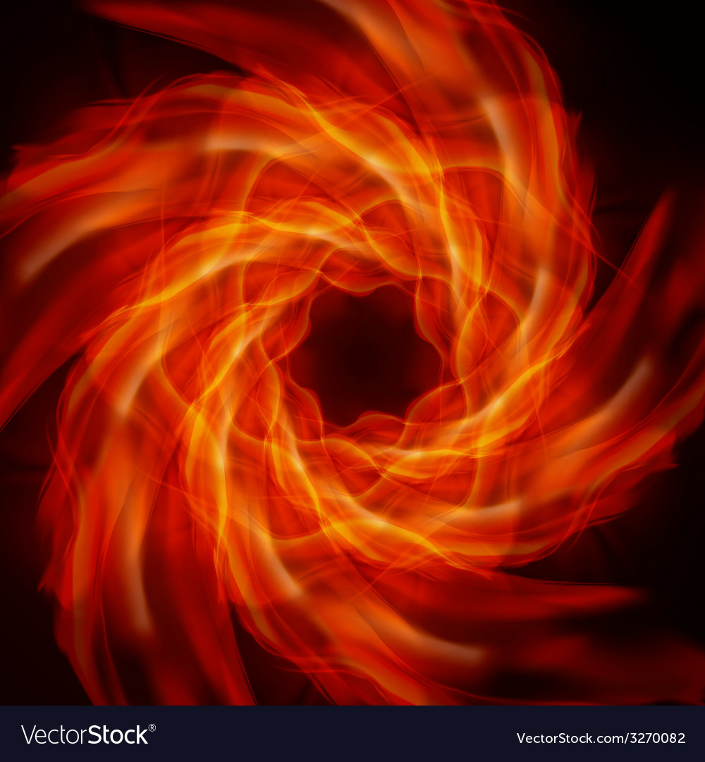 Abstract fire flames vector | Price: 1 Credit (USD $1)