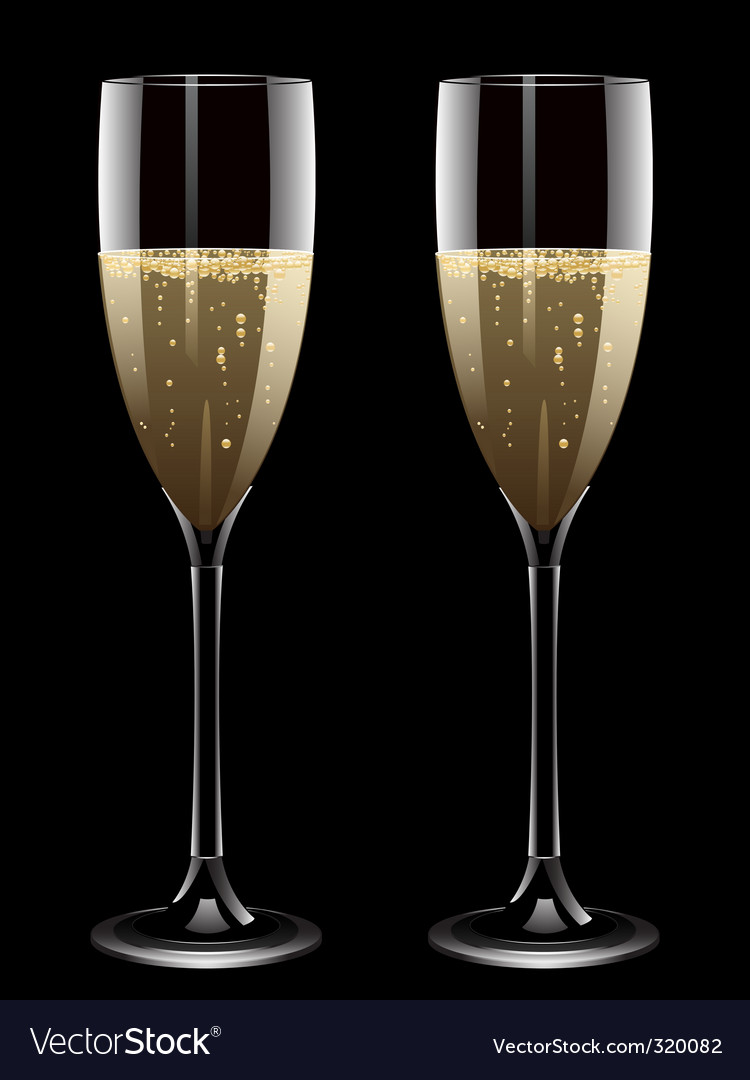 Champagne flutes vector | Price: 1 Credit (USD $1)