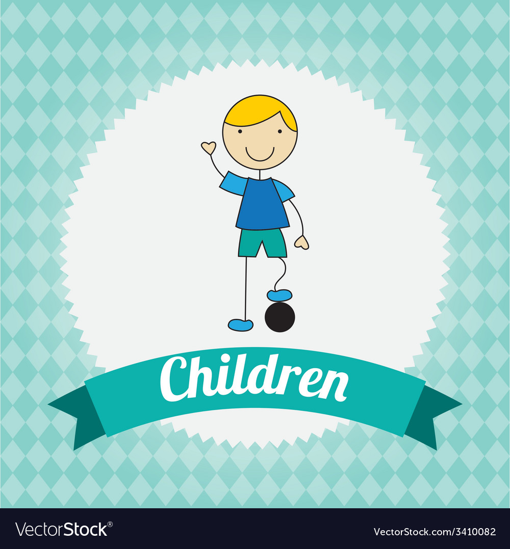 Children design vector | Price: 1 Credit (USD $1)