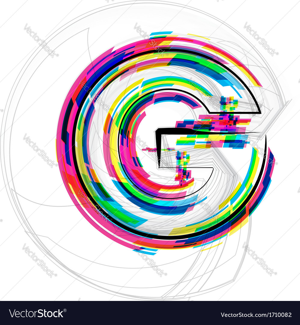 Colorful font letter g vector | Price: 1 Credit (USD $1)