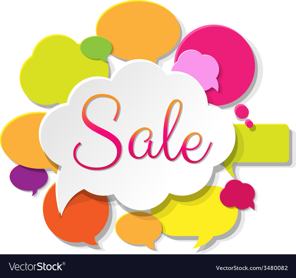 Colorful sale poster vector | Price: 1 Credit (USD $1)