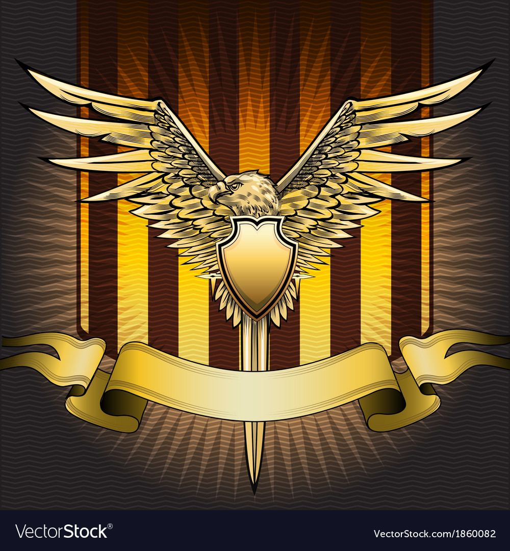 Eagle shield vector | Price: 3 Credit (USD $3)