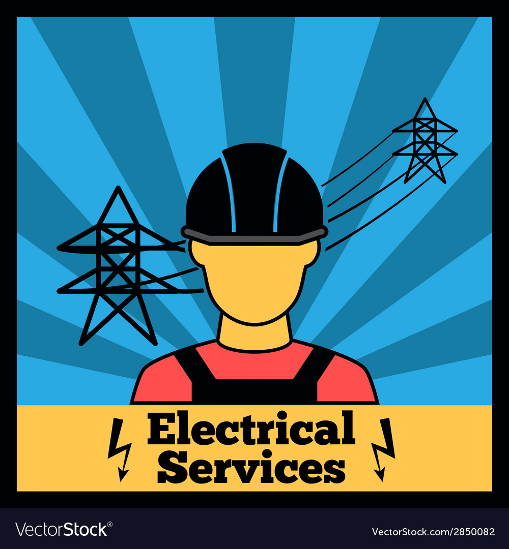 Electricity icon poster vector | Price: 1 Credit (USD $1)