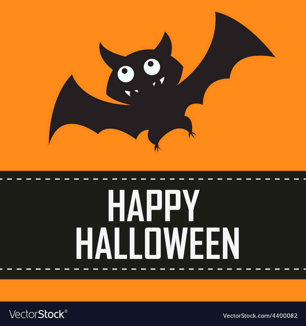 Halloween bat background vector | Price: 3 Credit (USD $3)