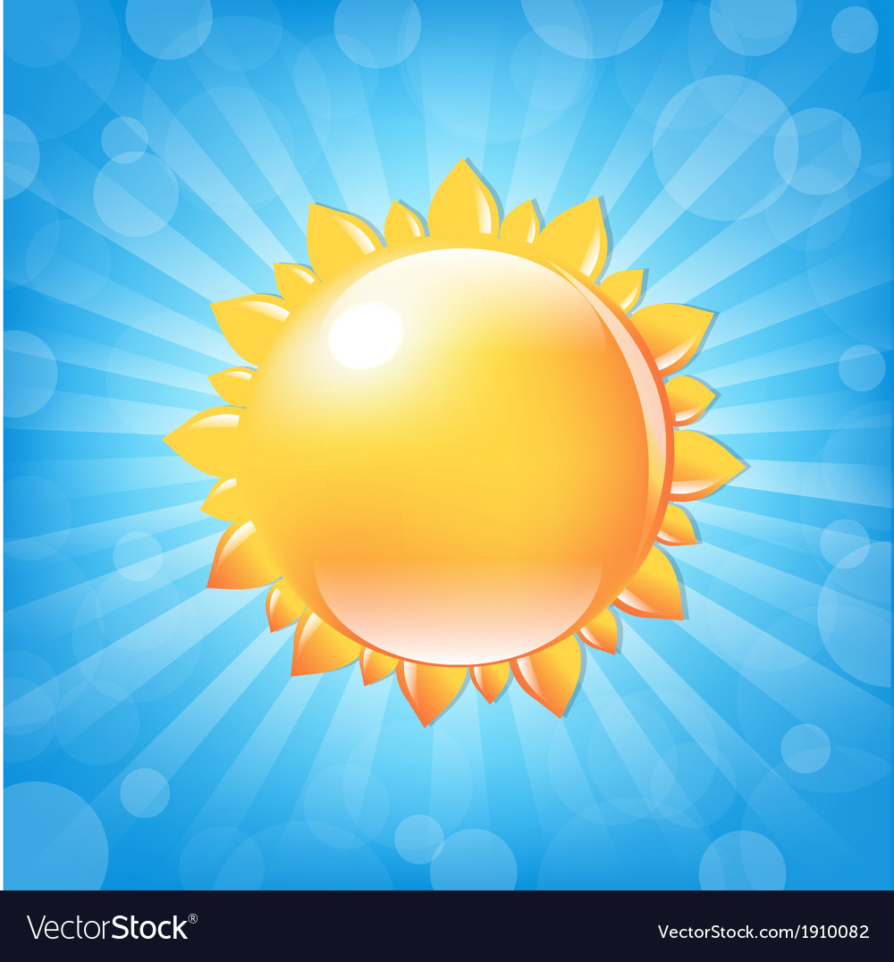 Sun with sunburst and bokeh vector | Price: 1 Credit (USD $1)