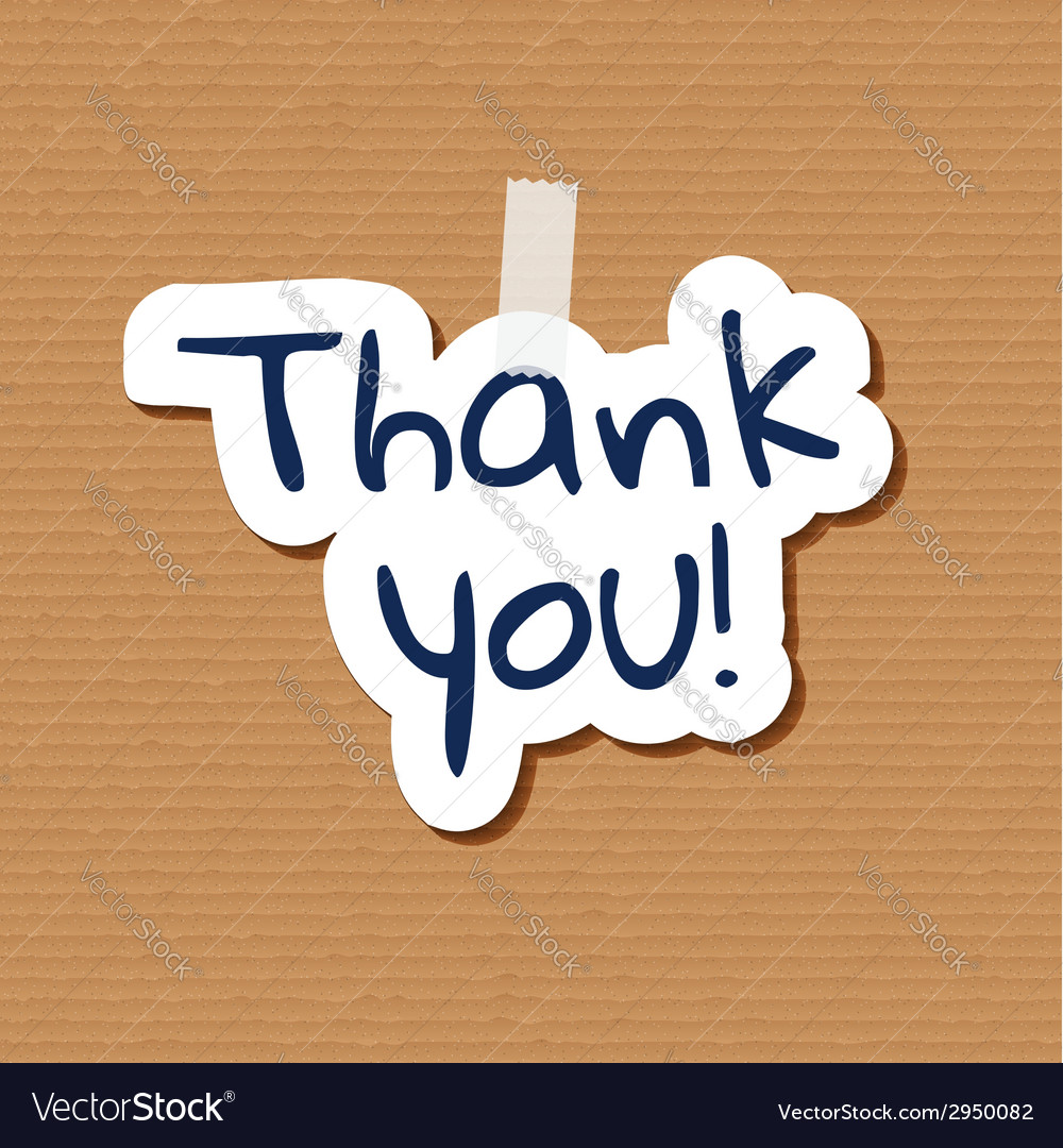 Thank you poster vector | Price: 1 Credit (USD $1)