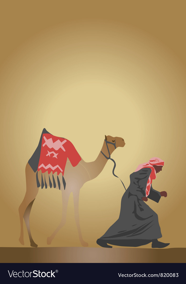 Arab and camel vector | Price: 1 Credit (USD $1)
