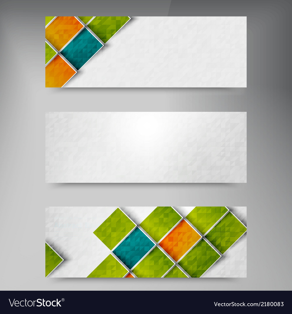 Banners and squares color set vector   Price: 1 Credit (USD $1)