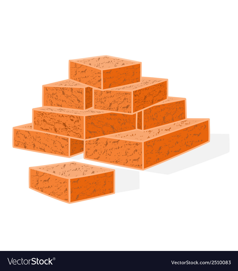 Bricks-building-material vector | Price: 1 Credit (USD $1)