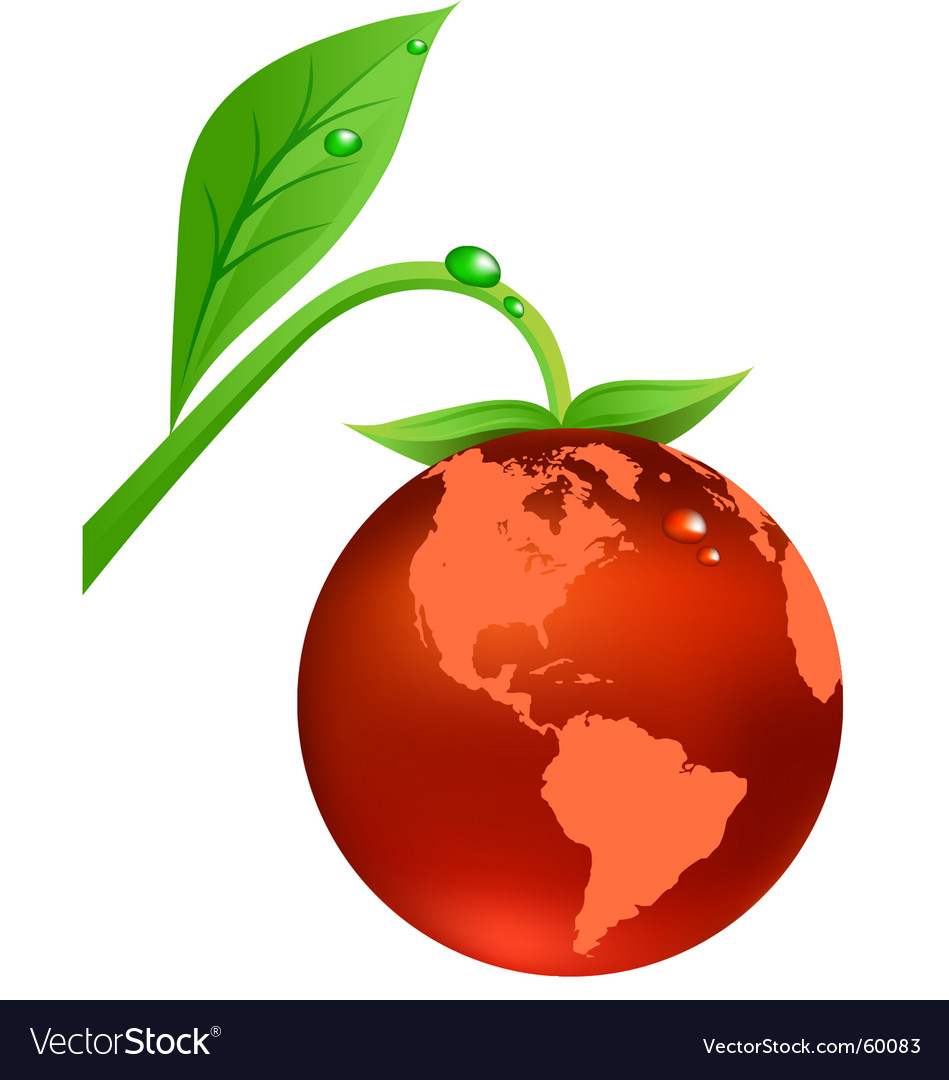 Earth fruit vector | Price: 1 Credit (USD $1)