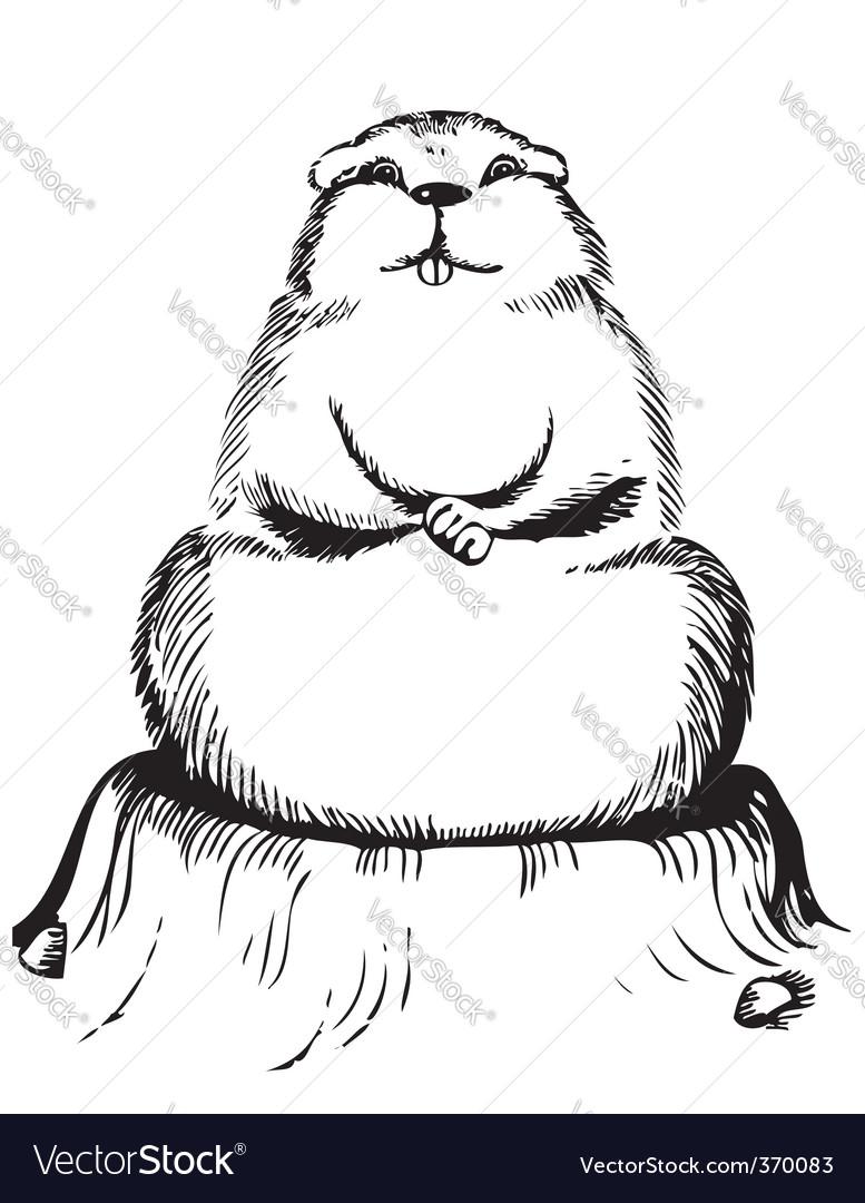 Ground hog day vector | Price: 1 Credit (USD $1)