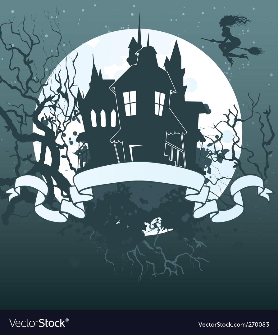 Halloween ribbon background vector | Price: 3 Credit (USD $3)