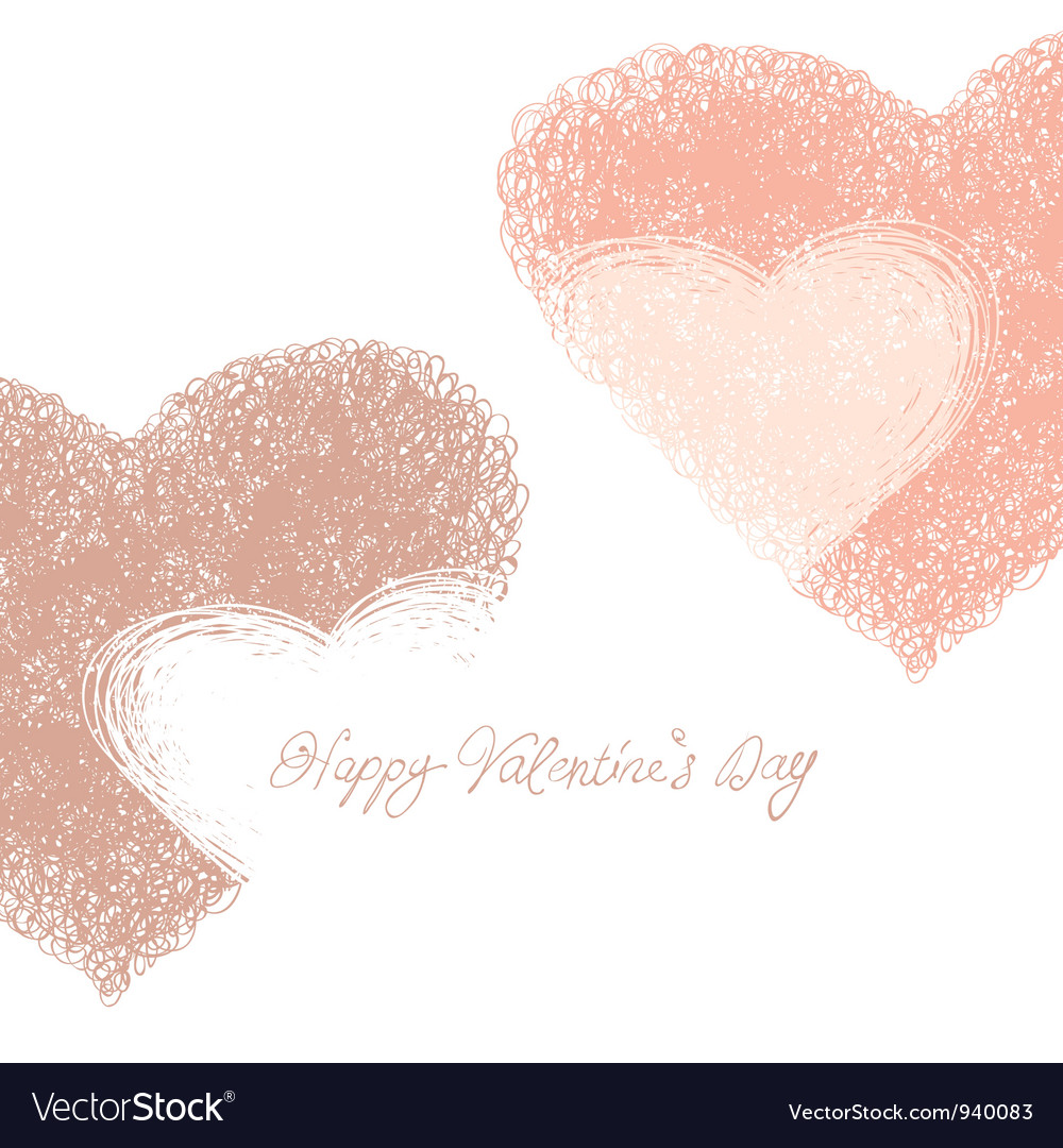 Hand drawn hearts background vector | Price: 1 Credit (USD $1)