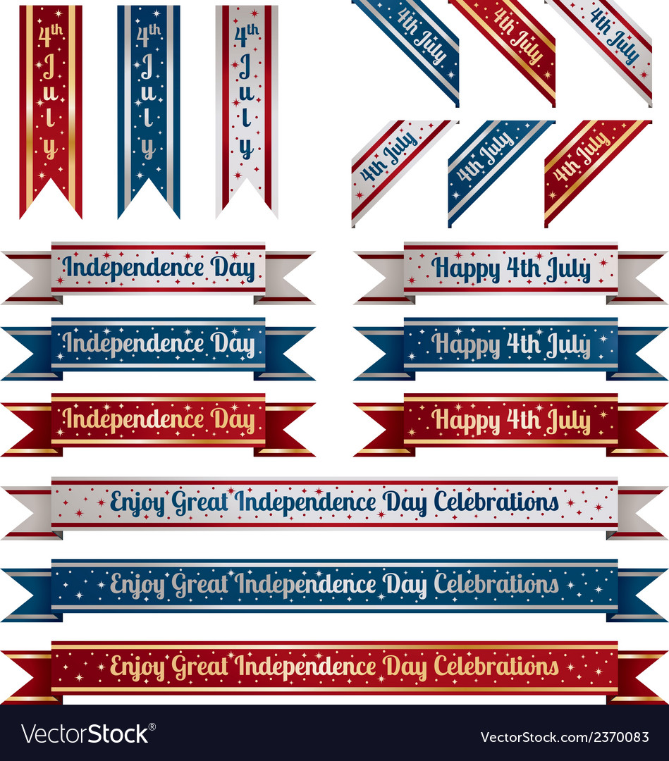 Independence day ribbons vector | Price: 1 Credit (USD $1)