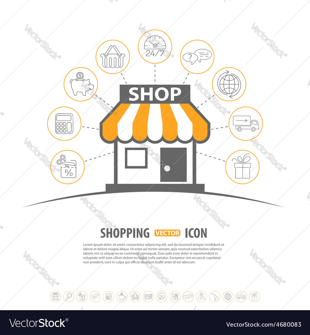 Internet shopping concept vector | Price: 1 Credit (USD $1)