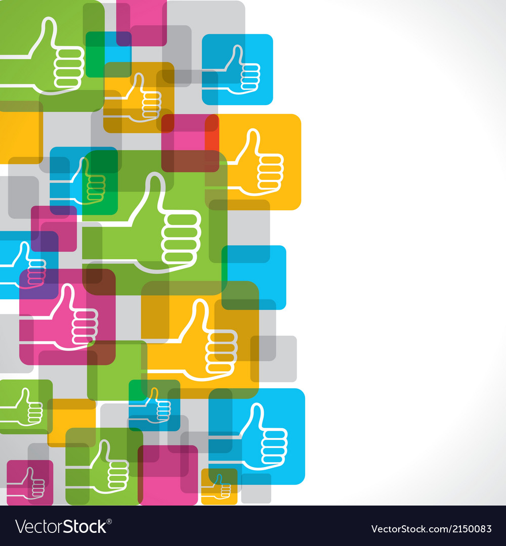 Like or thumbs up symbol background vector | Price: 1 Credit (USD $1)