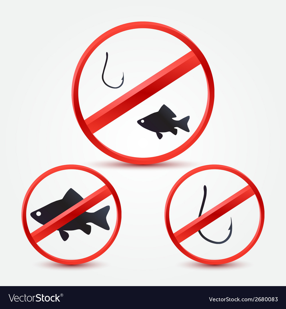No fishing bright red icons - abstract sign vector | Price: 1 Credit (USD $1)