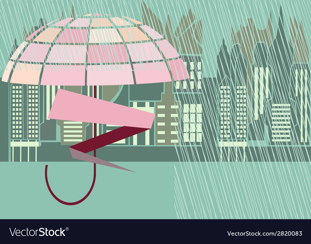Rain storm street vector | Price: 1 Credit (USD $1)