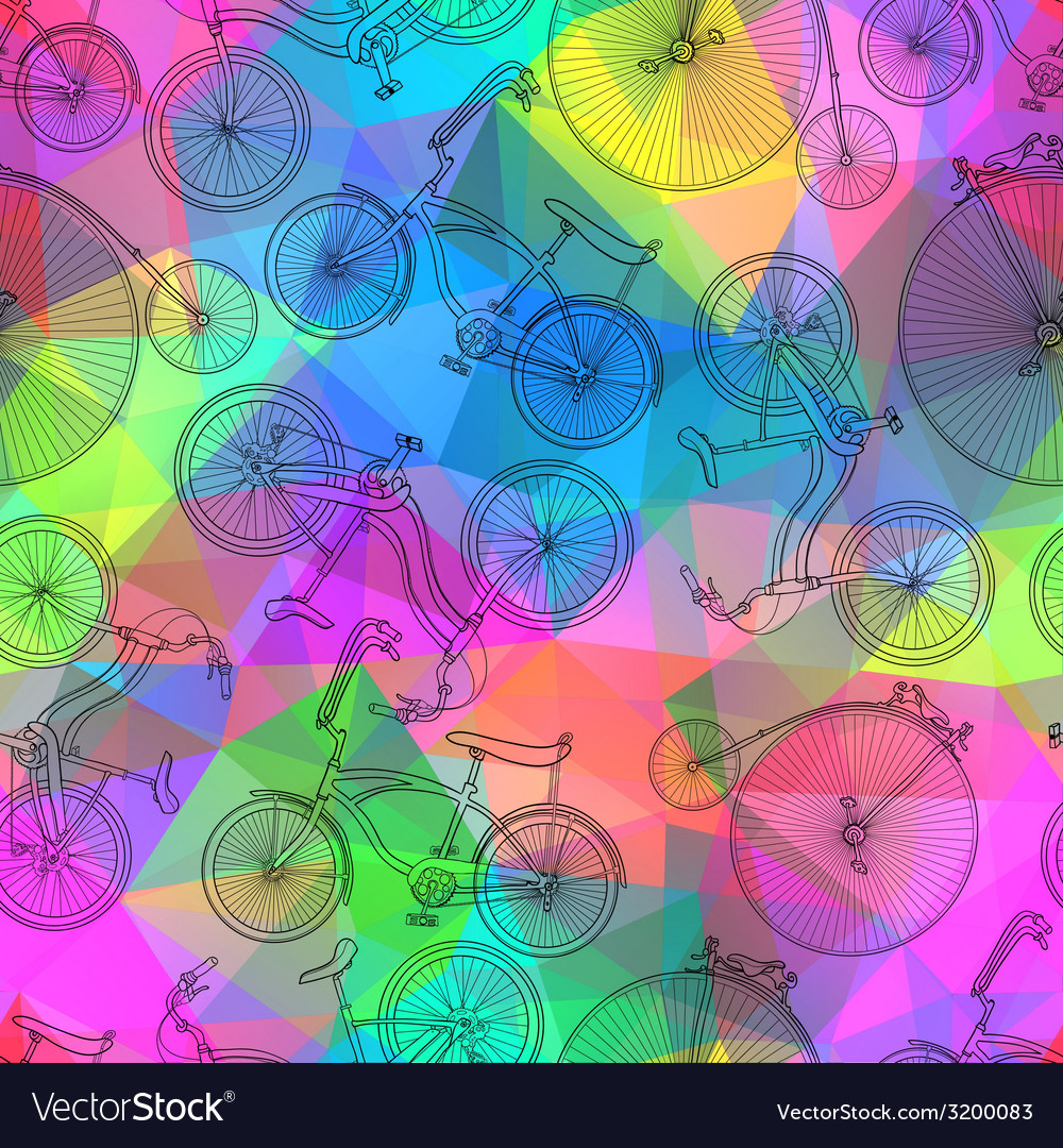 Seamless bicycle background vector | Price: 1 Credit (USD $1)