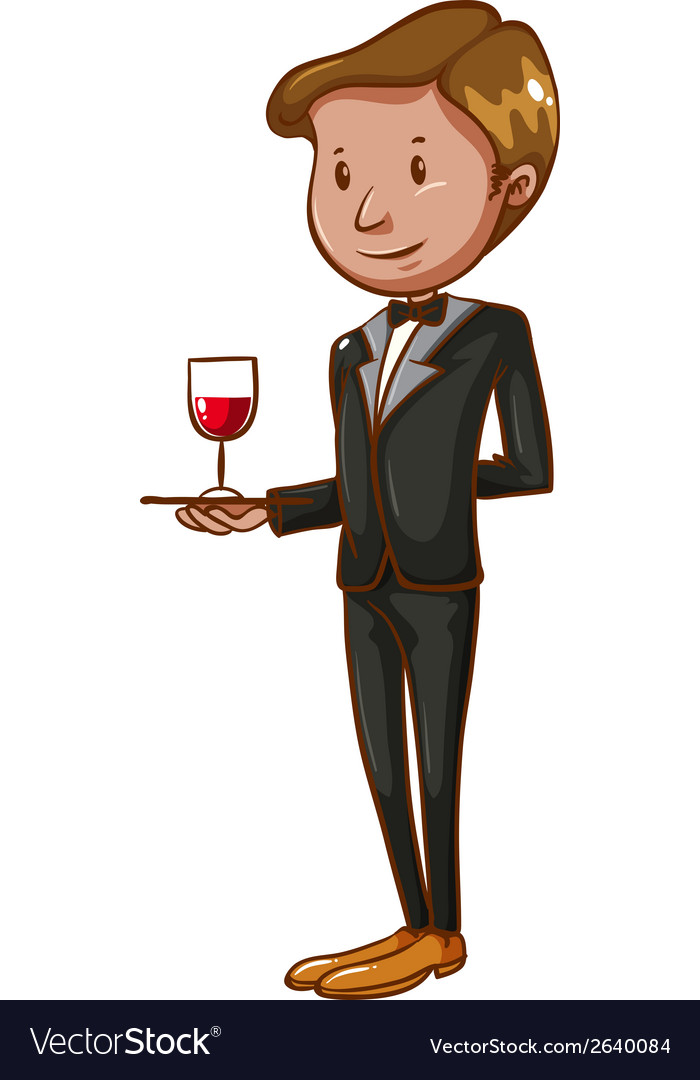 A waiter vector | Price: 1 Credit (USD $1)