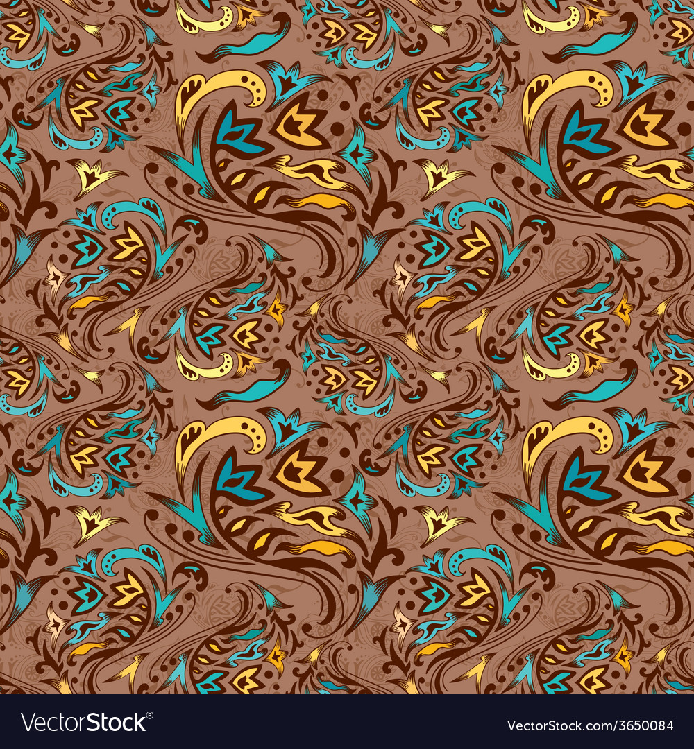 Arabic swirl pattern vector | Price: 1 Credit (USD $1)