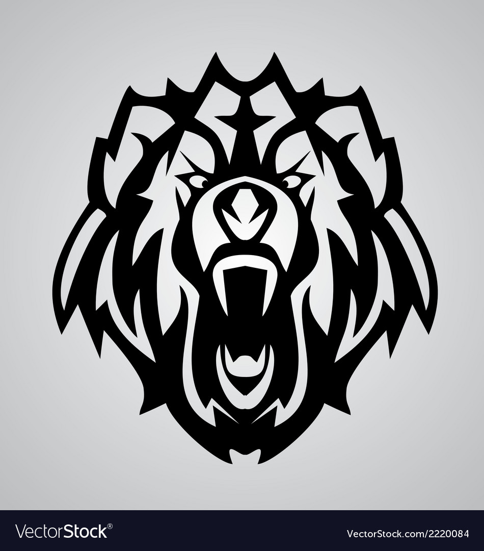 Bear face tribal vector | Price: 1 Credit (USD $1)