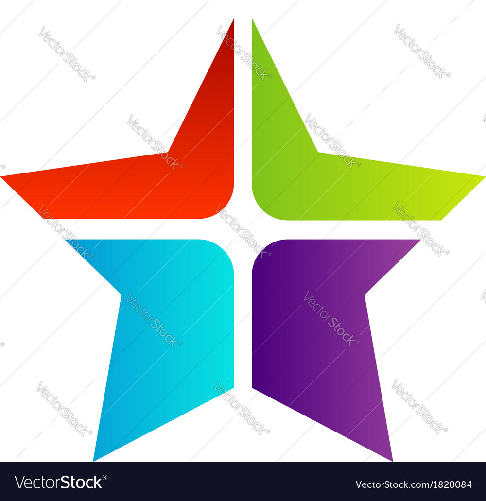 Colorful star business logo vector | Price: 1 Credit (USD $1)