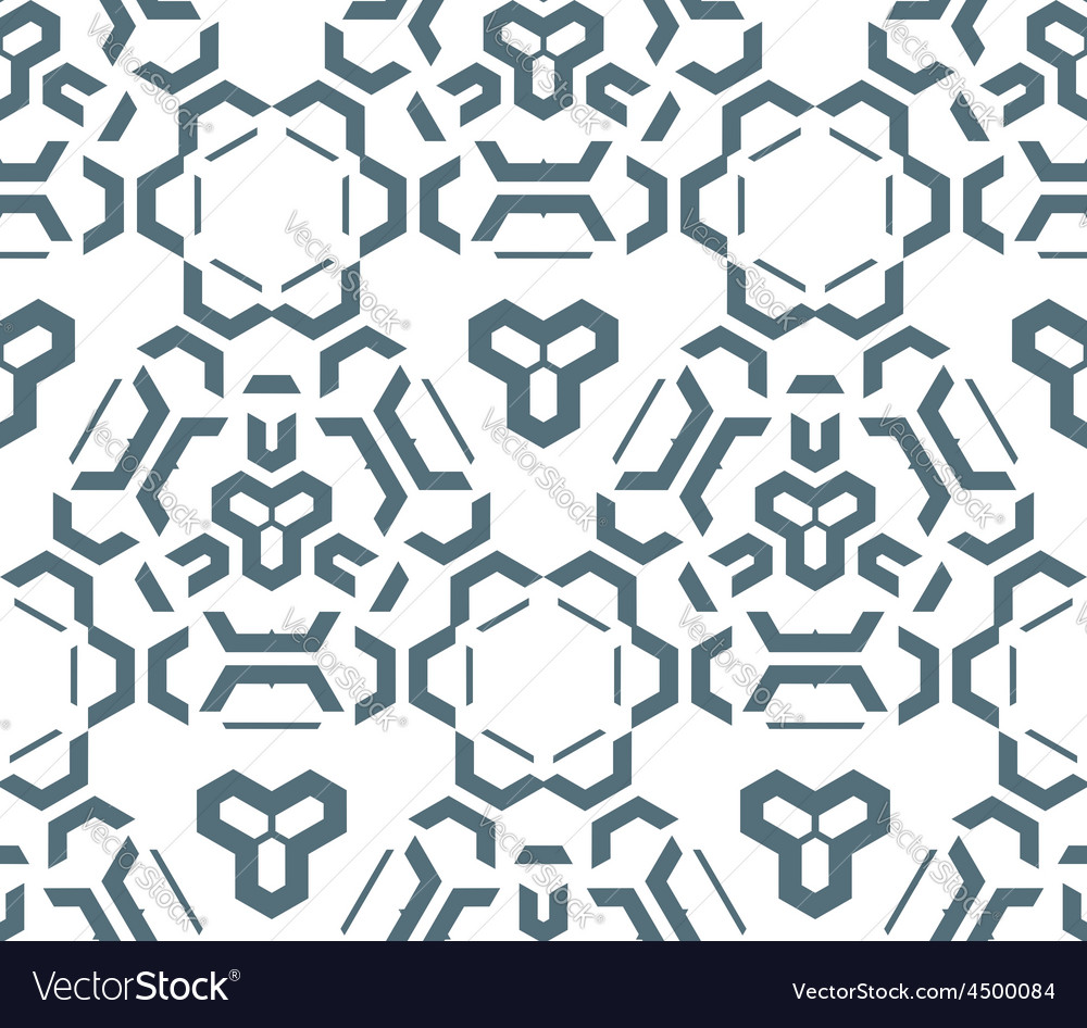 Dark monochrome color abstract geometric seamless vector | Price: 1 Credit (USD $1)