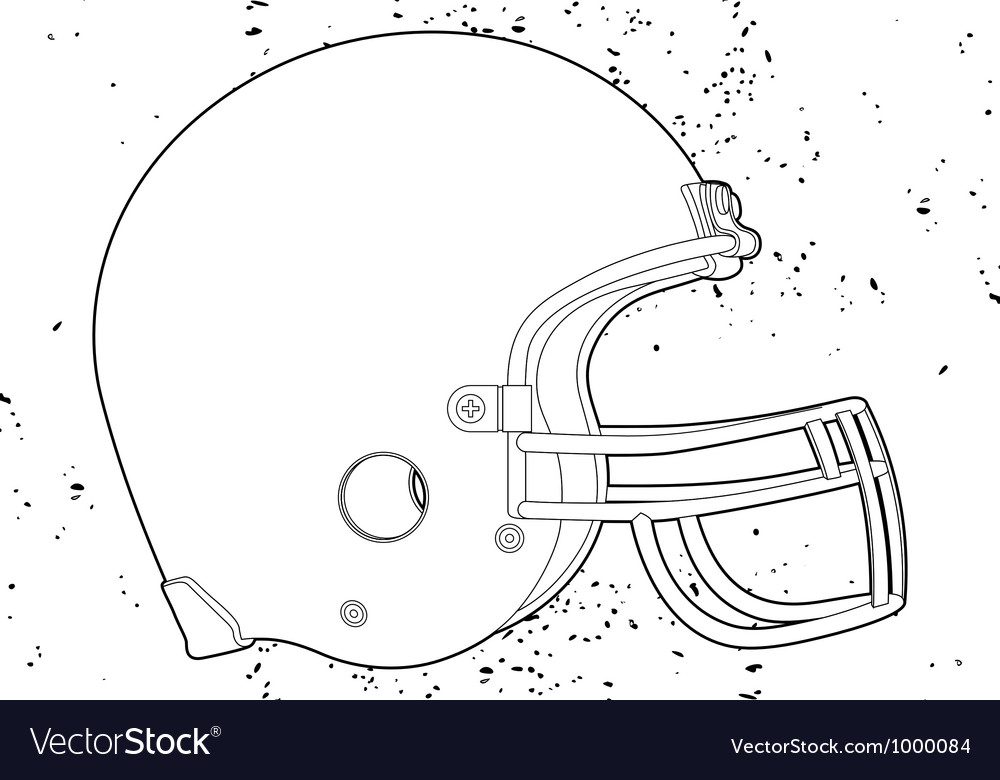 Football helmet vector | Price: 1 Credit (USD $1)