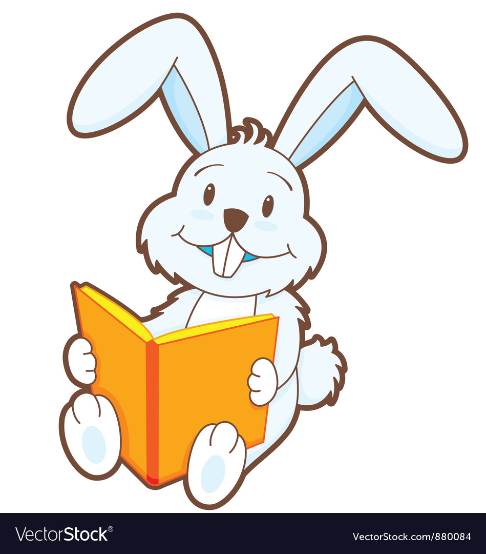 Reading bunny vector | Price: 1 Credit (USD $1)