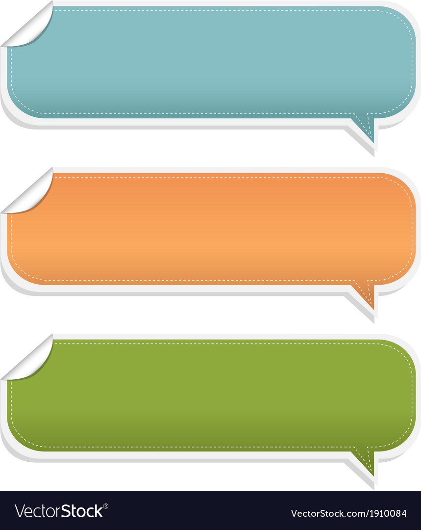 Set speech bubble frames vector | Price: 1 Credit (USD $1)