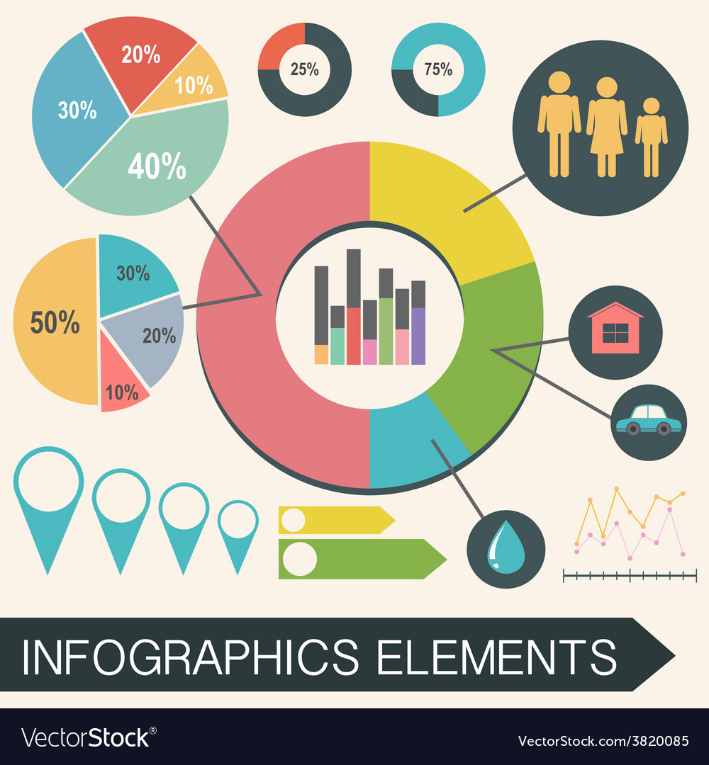 An infochart with statistics vector | Price: 1 Credit (USD $1)