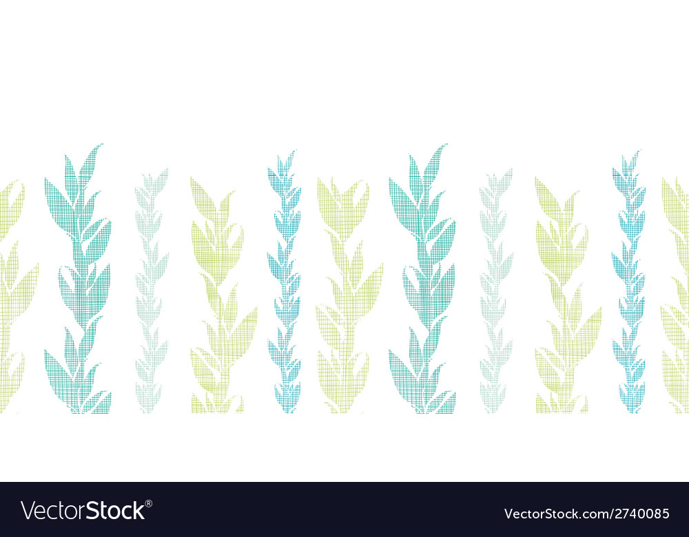 Blue green seaweed vines horizontal seamless vector | Price: 1 Credit (USD $1)