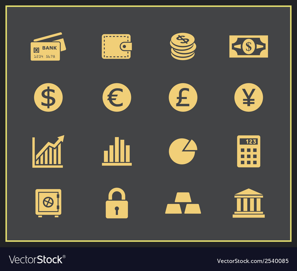 Financal icons set vector | Price: 1 Credit (USD $1)