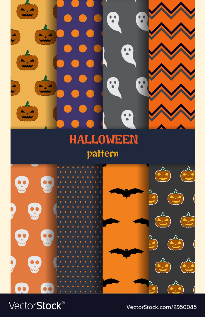Halloween pattern set vector | Price: 1 Credit (USD $1)