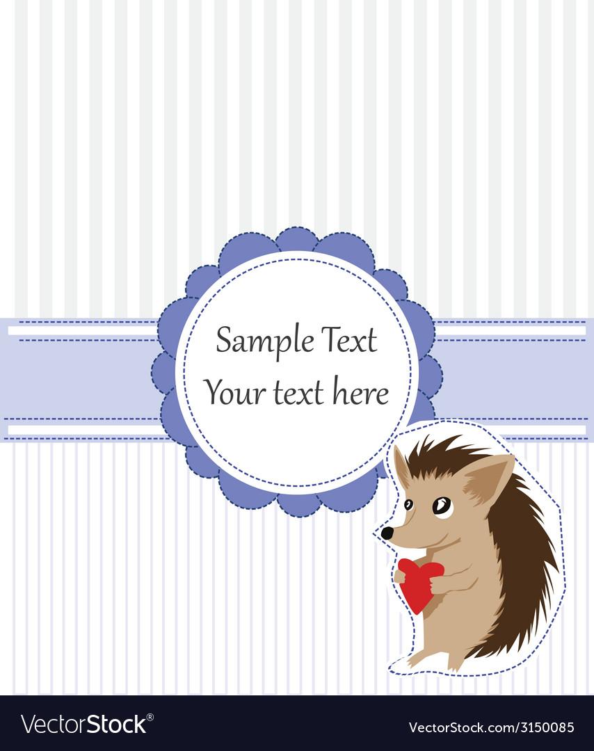 Hedgehog card vector | Price: 1 Credit (USD $1)