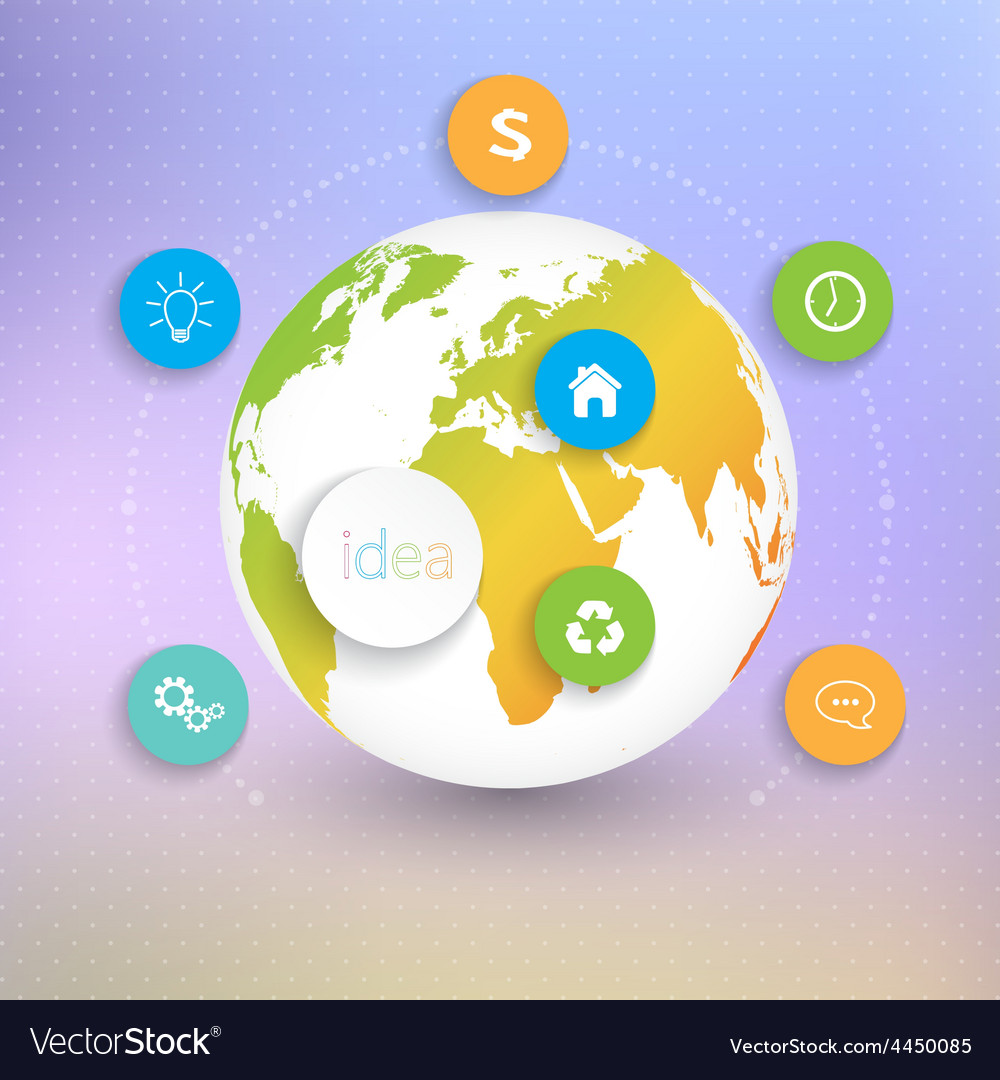 Modern abstract 3d globes template infographic vector   Price: 1 Credit (USD $1)