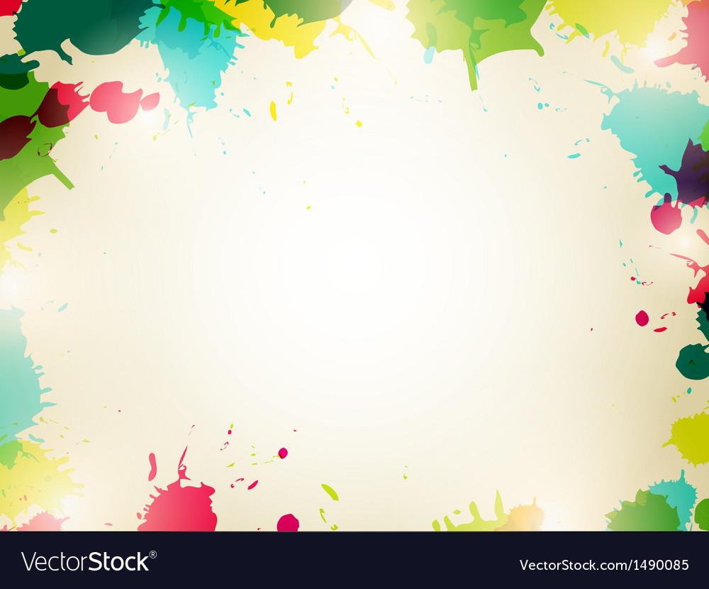 Multicolored splash background vector | Price: 1 Credit (USD $1)