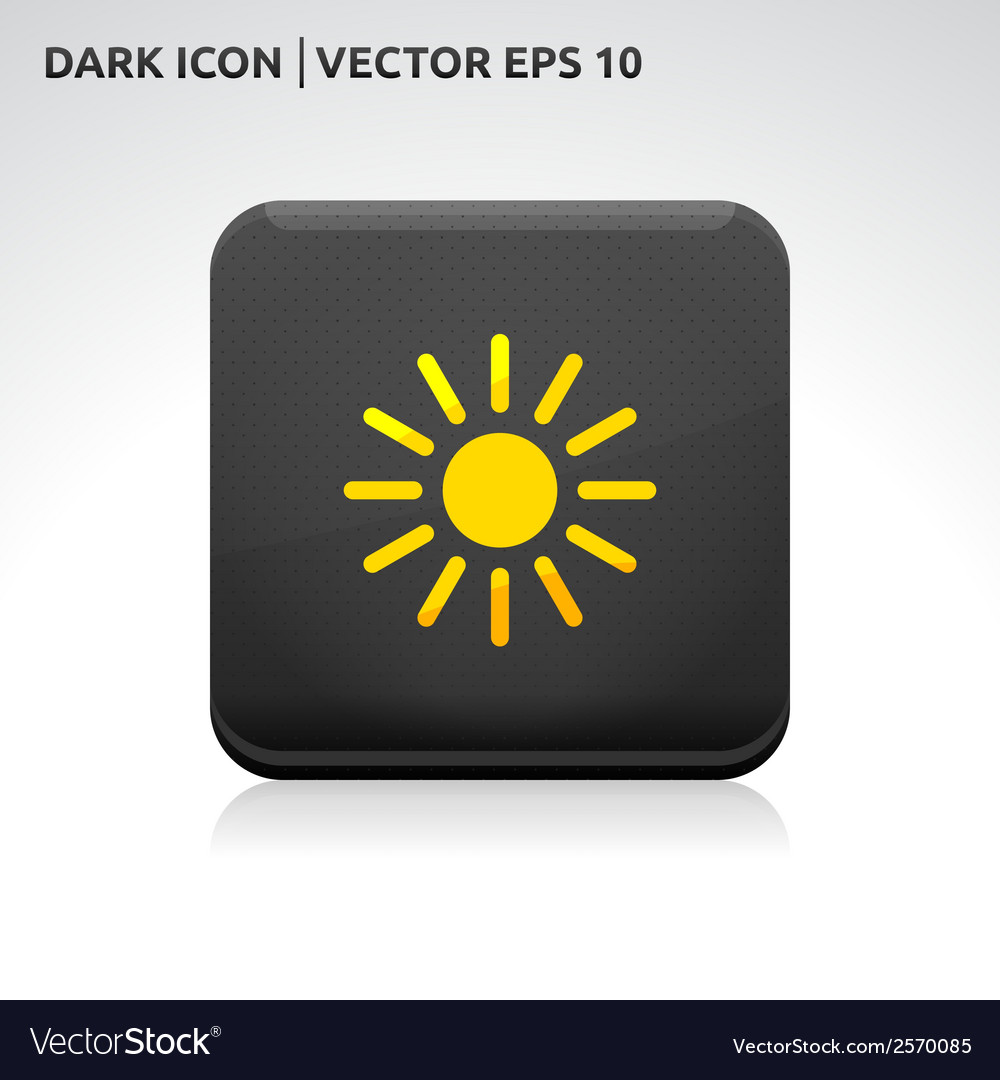 Sun summer icon gold vector | Price: 1 Credit (USD $1)
