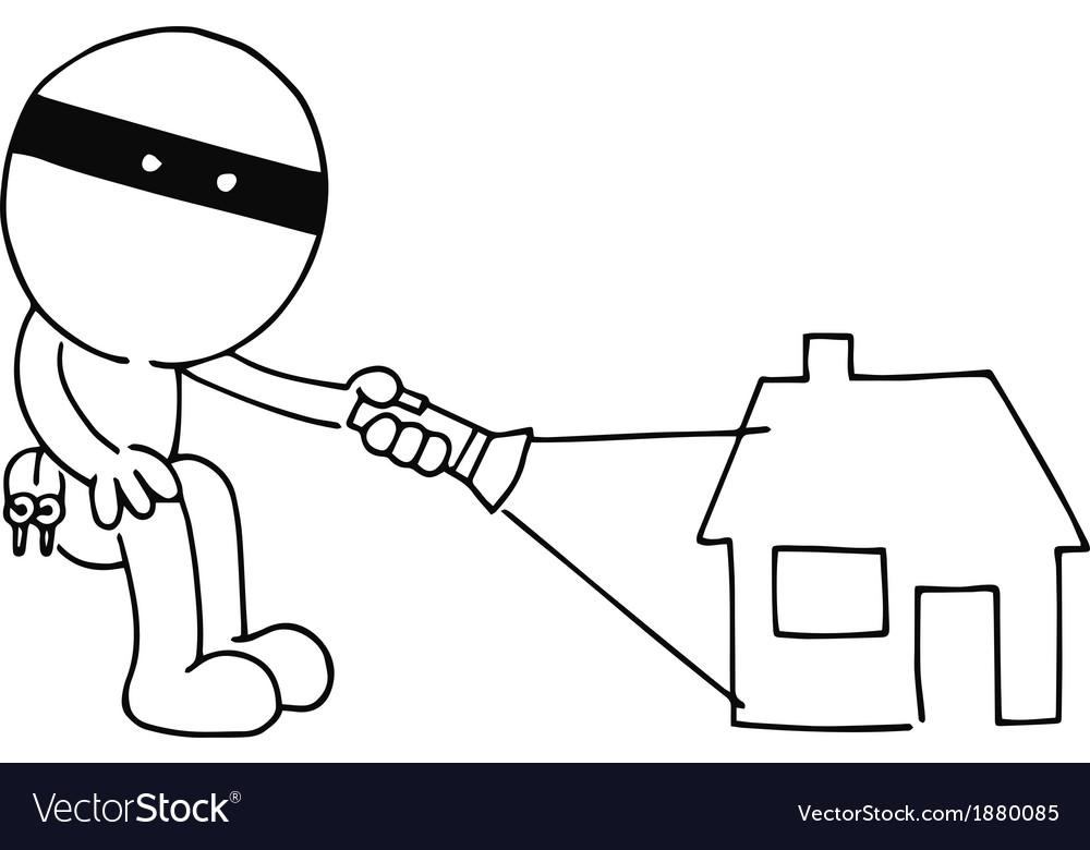 Thief flashing vector   Price: 1 Credit (USD $1)