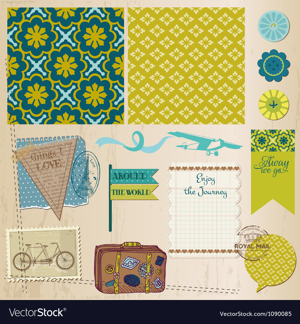 Travel set of design elements vector | Price: 3 Credit (USD $3)