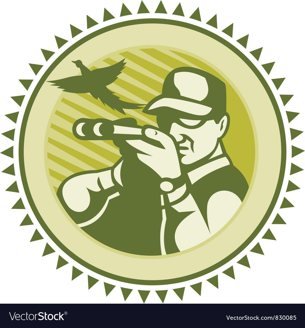 Vintage hunter icon vector | Price: 1 Credit (USD $1)