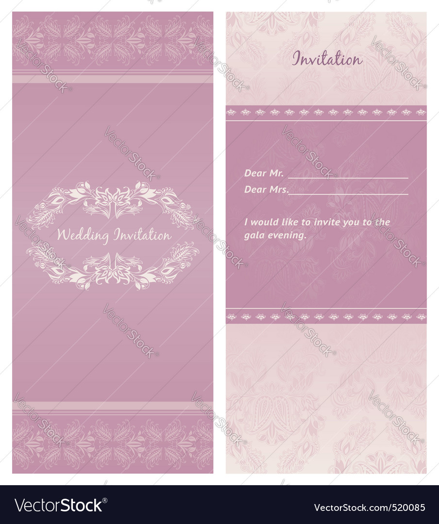 Weddinginvitation background  template vector | Price: 1 Credit (USD $1)