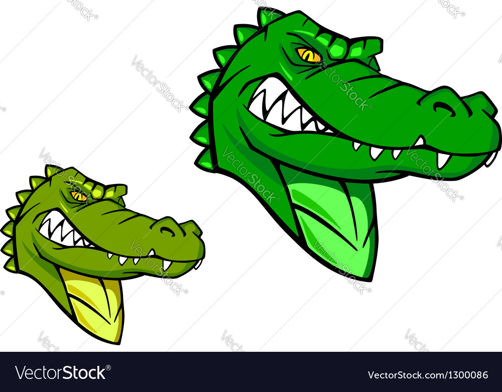 Green wild alligator vector | Price: 1 Credit (USD $1)