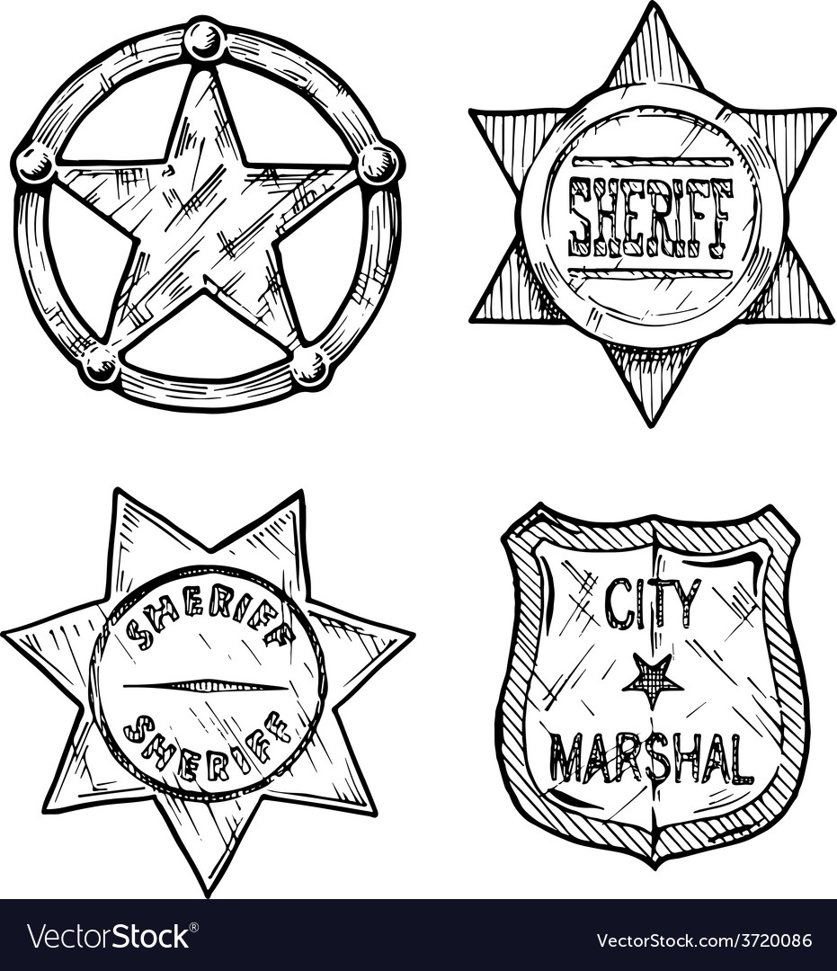 Sheriff stars vector | Price: 1 Credit (USD $1)